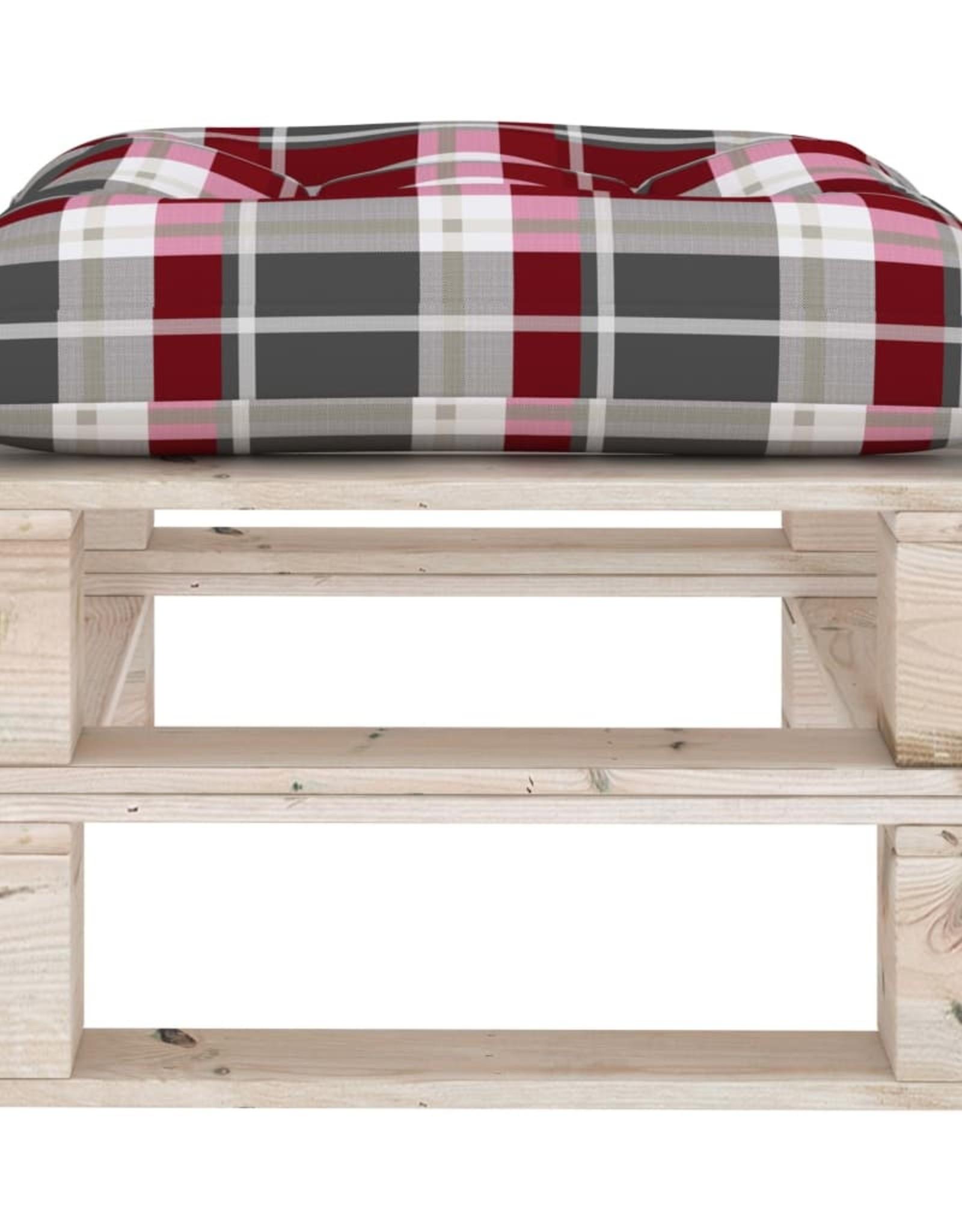4-delige Loungeset met kussens pallet grenenhout