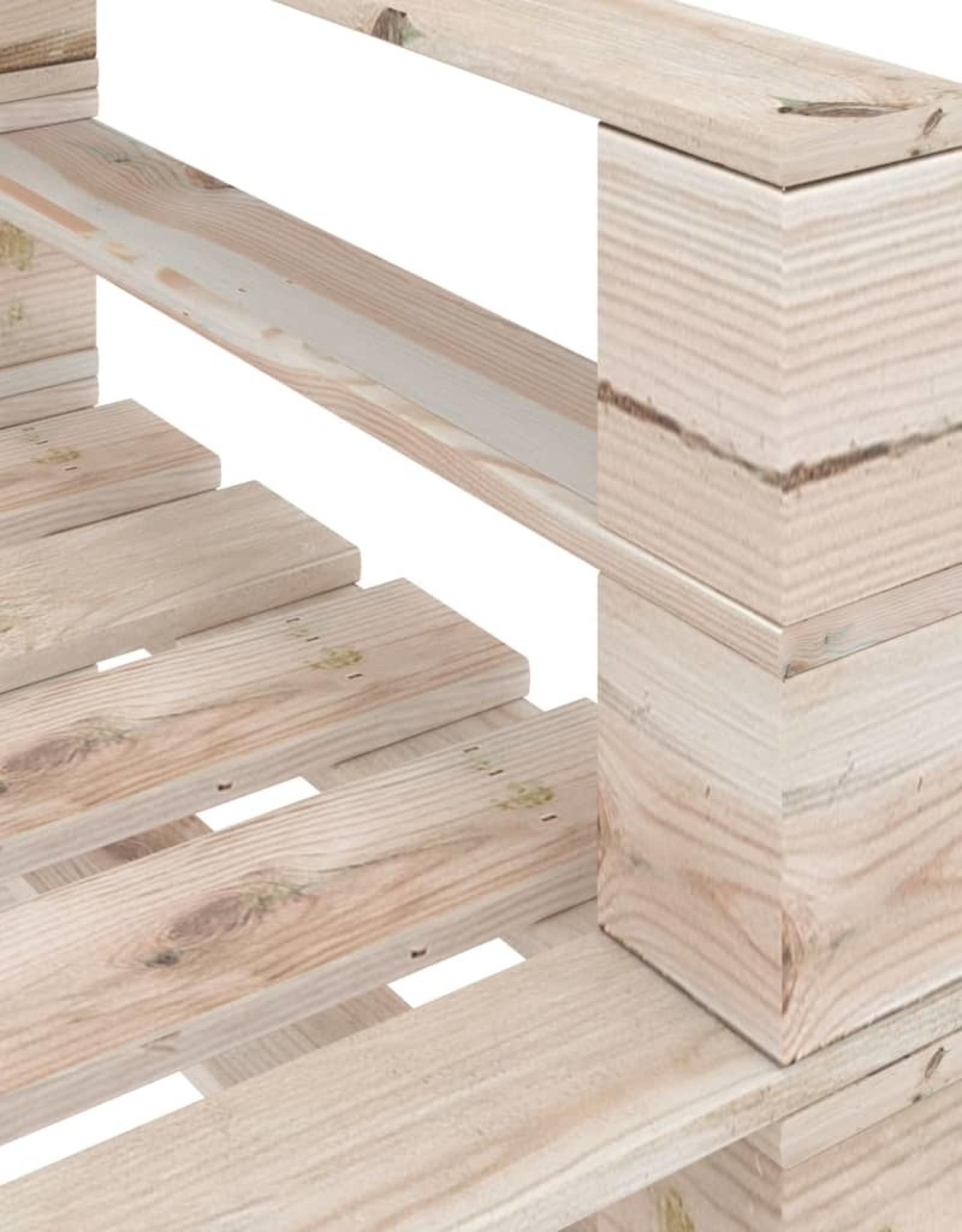 4-delige Loungeset pallet grenenhout
