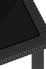 5-delige Tuinset poly rattan zwart