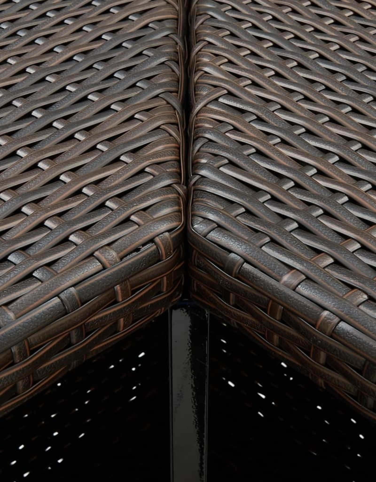 16-delige Tuinbarset met kussens poly rattan bruin