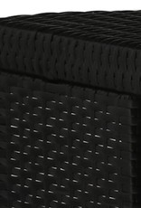 5-delige Tuinbarset met kussens poly rattan zwart