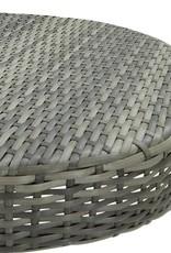 3-delige Tuinbarset poly rattan grijs