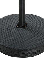 3-delige Tuinbarset met kussens poly rattan zwart