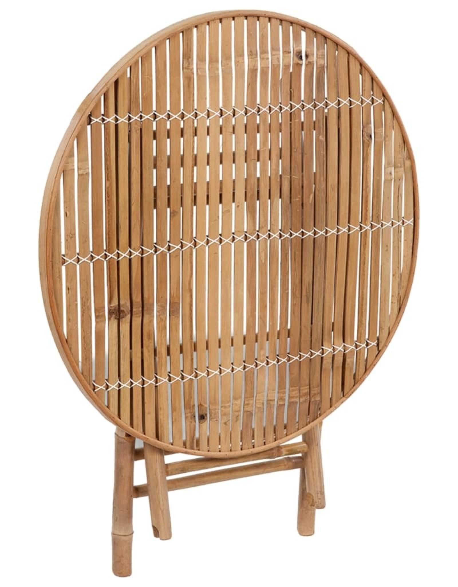5-delige Tuinset inklapbaar met kussens bamboe