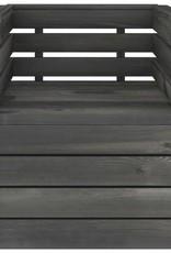 12-delige Loungeset pallet massief grenenhout donkergrijs