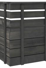 10-delige Loungeset pallet massief grenenhout donkergrijs