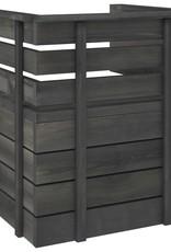 5-delige Loungeset pallet massief grenenhout donkergrijs