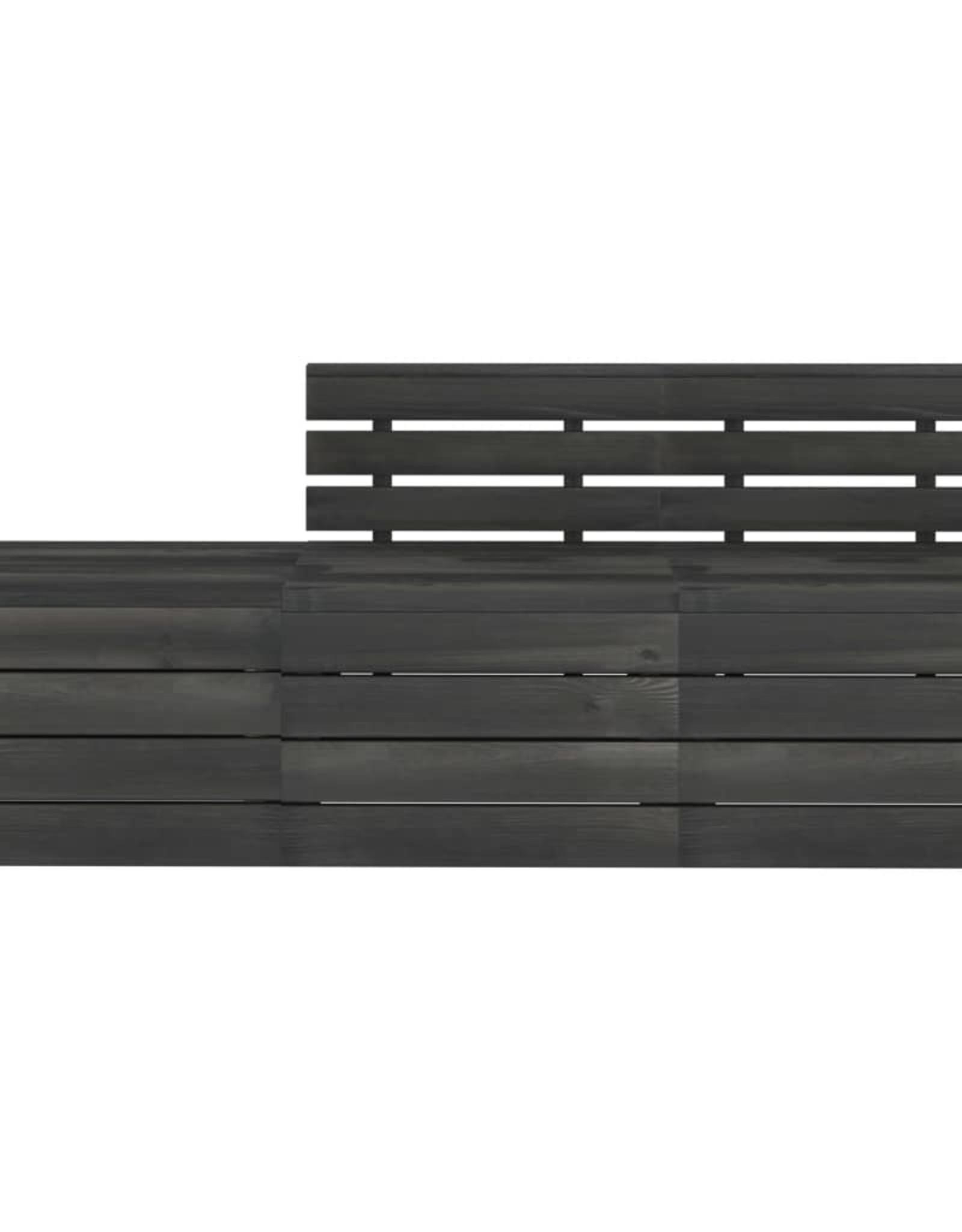 3-delige Loungeset pallet massief grenenhout donkergrijs