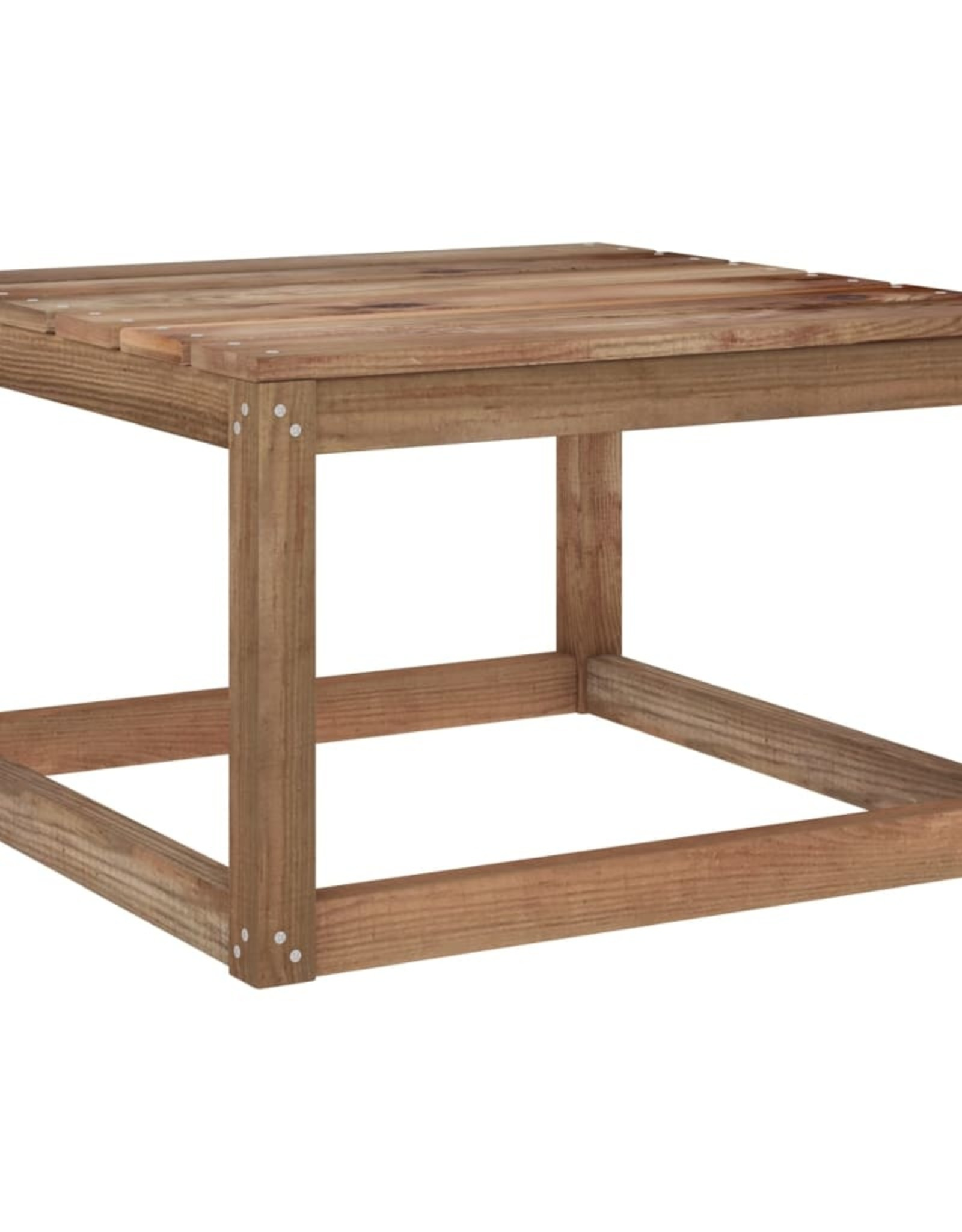 6-delige Loungeset met blauwe kussens geïmpregneerd grenenhout
