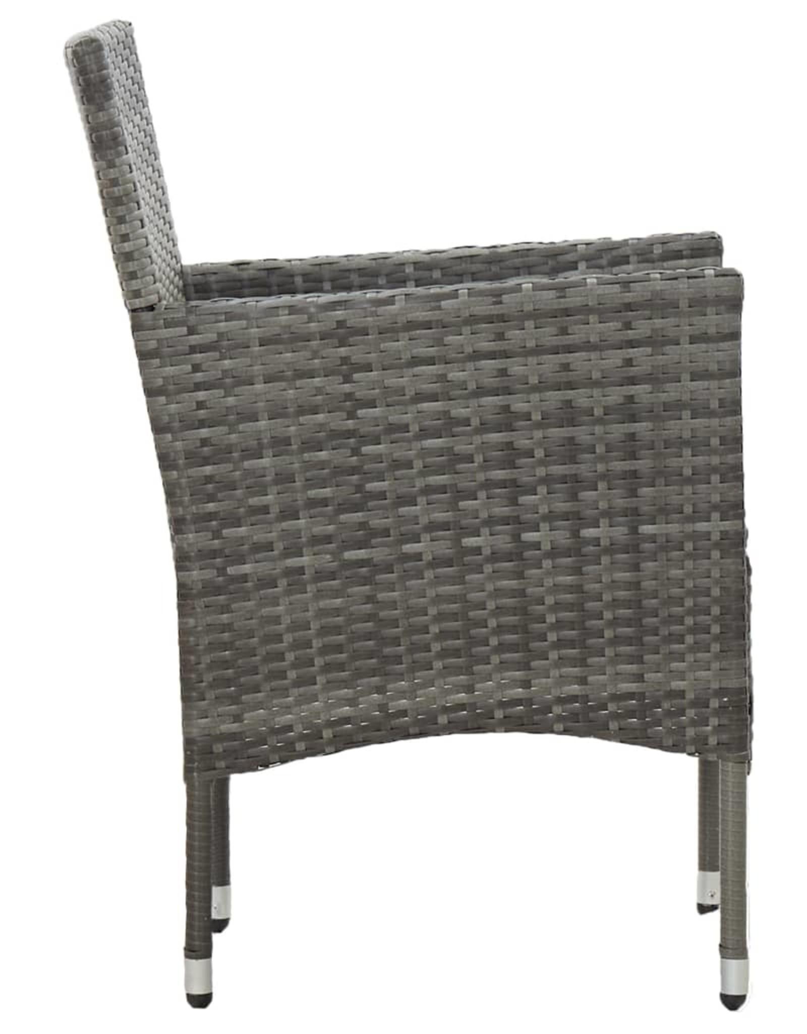 3-delige Tuinset grijs