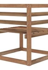 6-delige Loungeset met crèmekleurige kussens grenenhout