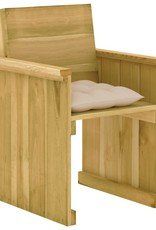 5-delige Tuinset met kussens geïmpregneerd grenenhout
