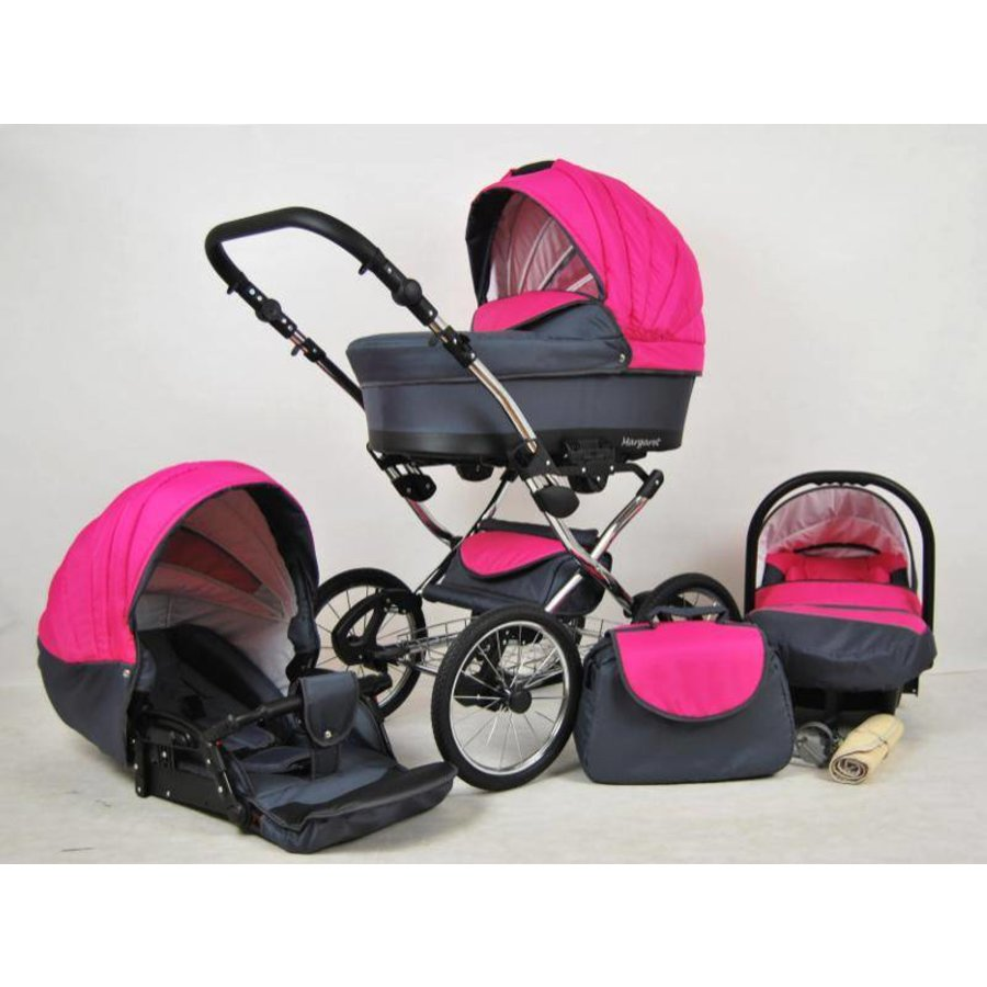 3 In 1 Retro kinderwagen combi Margaret - 63-1