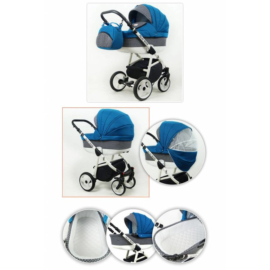 3 in 1 Combi kinderwagen Alu Way 3-3