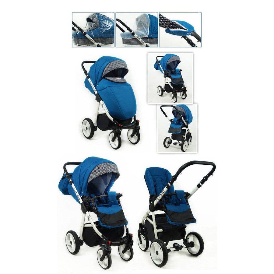 3 in 1 Combi kinderwagen Alu Way 3-4