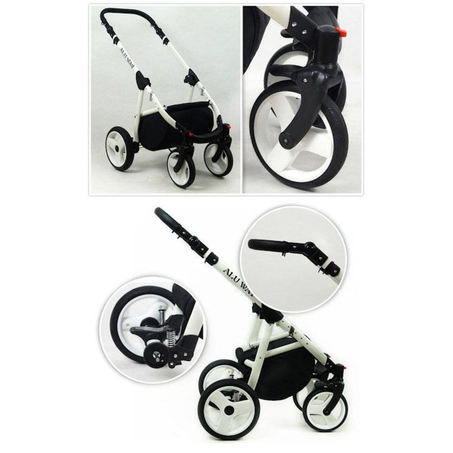 3 in 1 Combi kinderwagen Alu Way 3-5