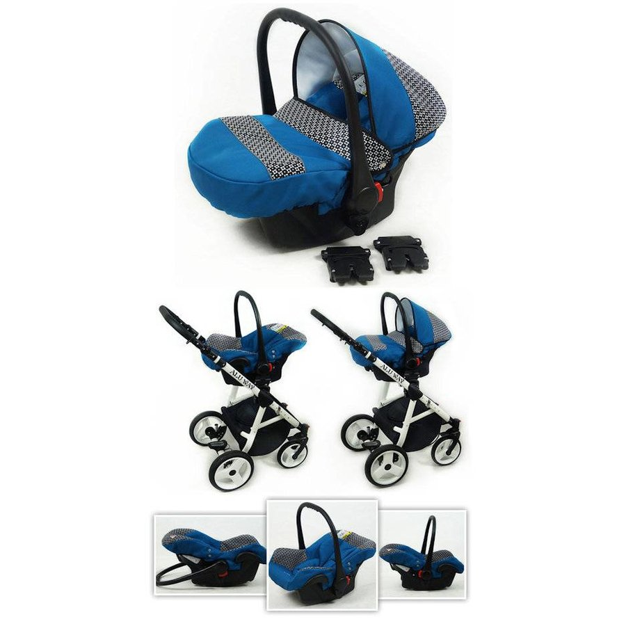 3 in 1 Combi kinderwagen Alu Way 3-6