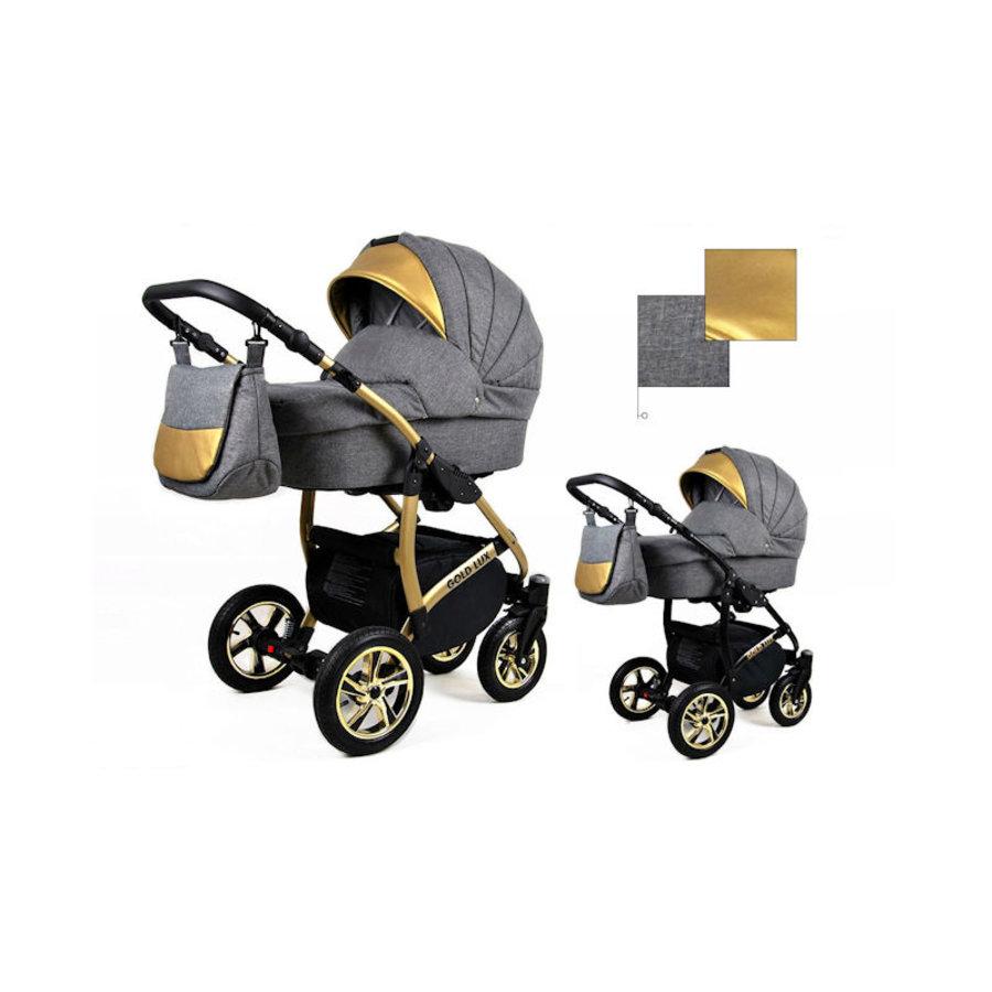 3 in 1 Combi kinderwagen Gold Lux 2-3