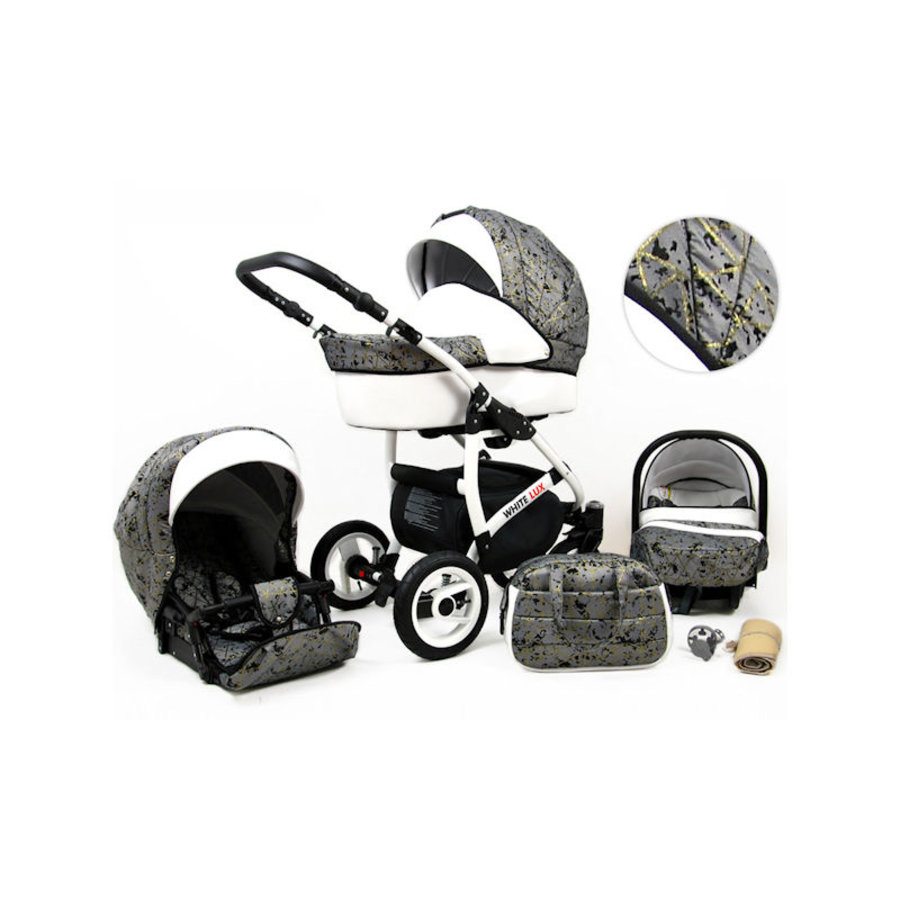 3 in 1 Combi kinderwagen White Lux - 12-1