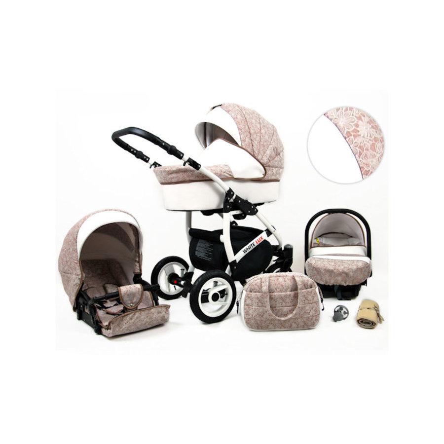 3 in 1 Combi kinderwagen White Lux - 14-1