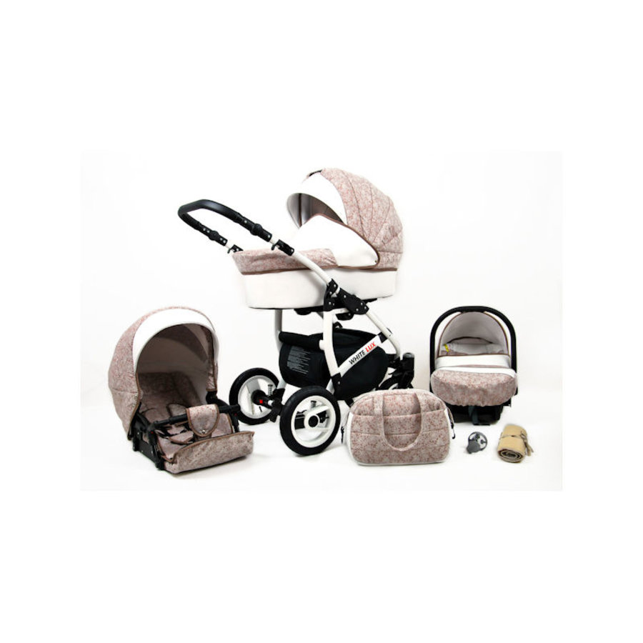 3 in 1 Combi kinderwagen White Lux - 14-2