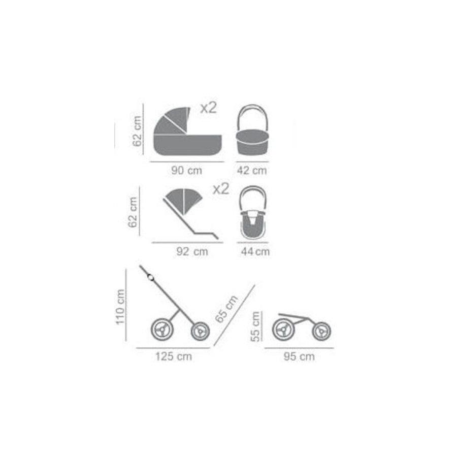 Tweeling kinderwagen Diamond Supreme Duo Slim 04-10