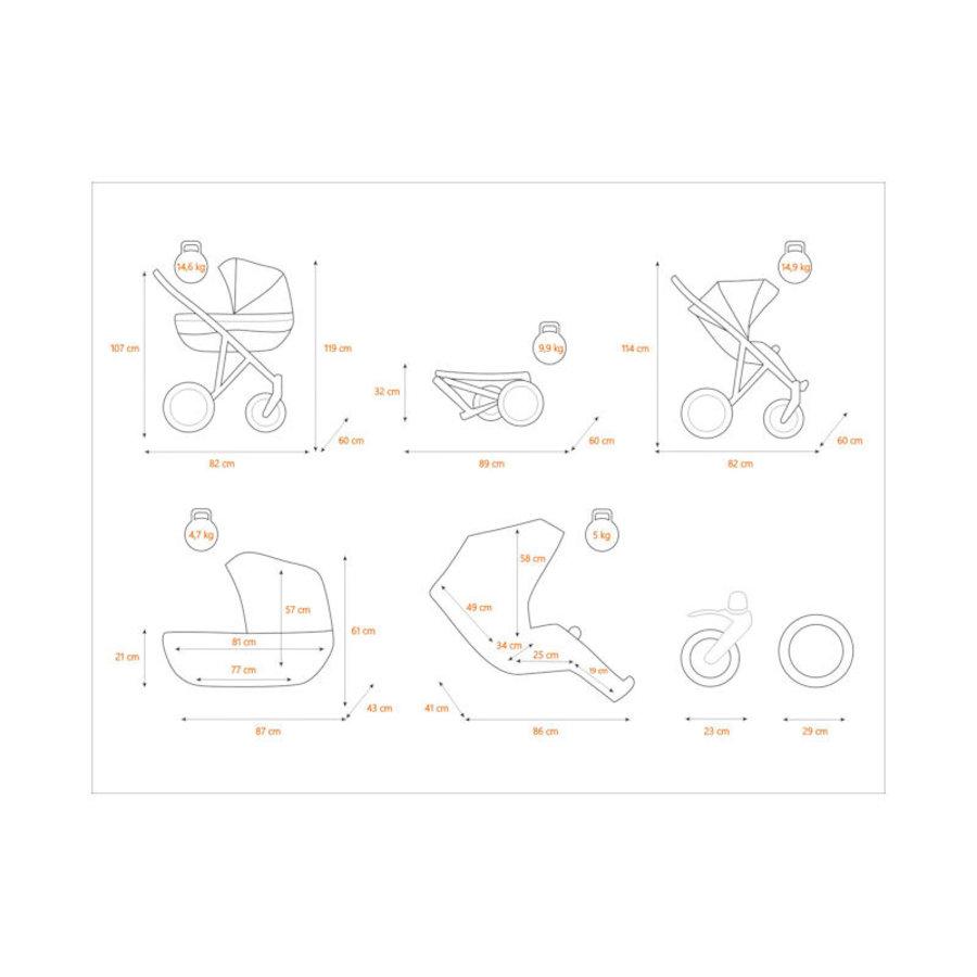 3 in 1 Combi kinderwagen Rotax 1-4