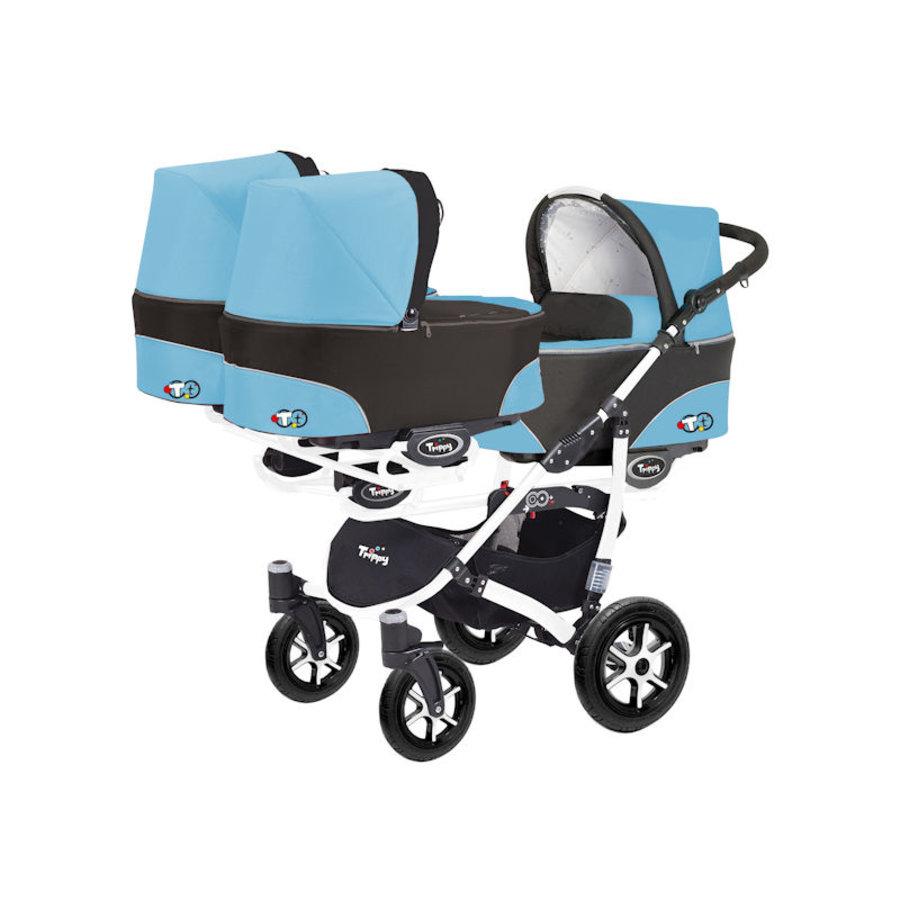 Drieling kinderwagen - Meerling kinderwagen Trippy 01 - wit-1