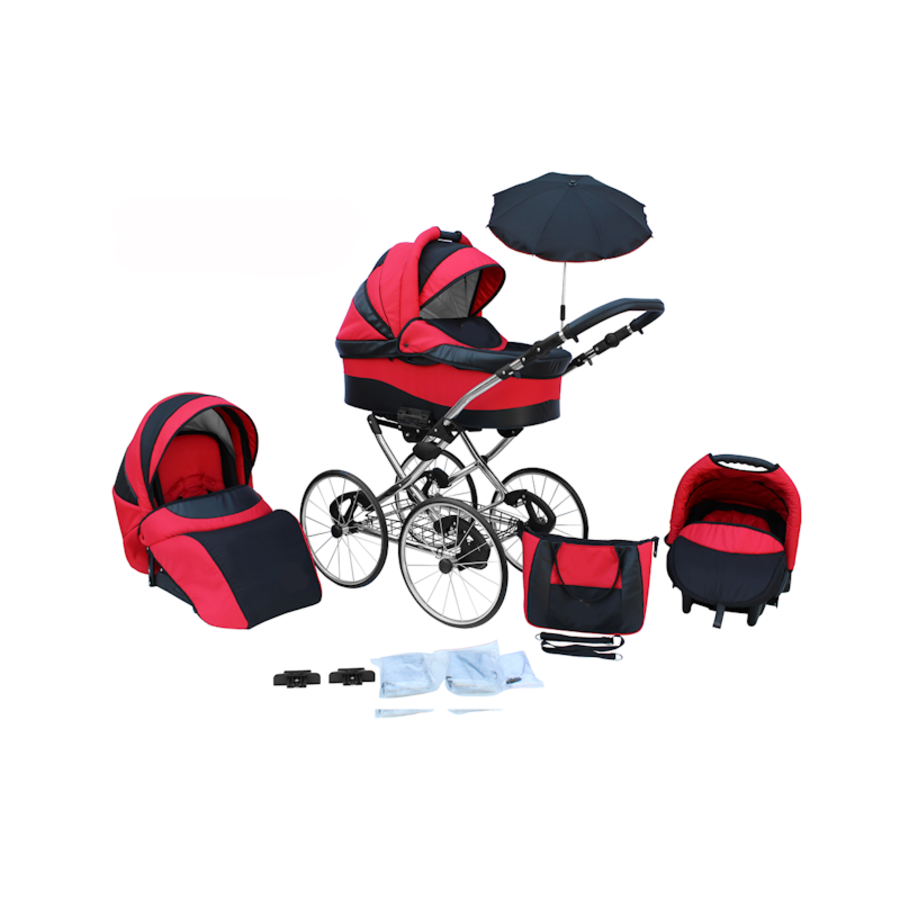 3 in 1 Retro kinderwagen Classic 6-1