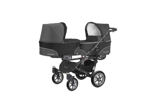Tweeling kinderwagen Twinni 4 - zwart