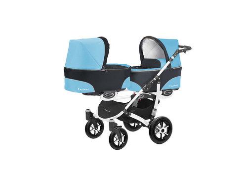 Tweeling kinderwagen Twinni 1 - wit