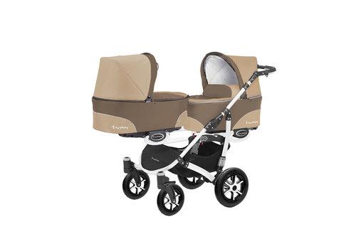 Tweeling kinderwagen Twinni 2 - wit