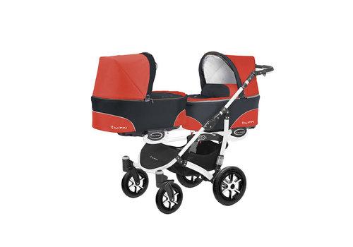 Tweeling kinderwagen Twinni 3 - wit