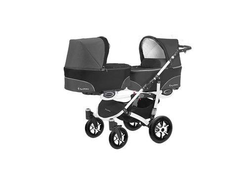 Tweeling kinderwagen Twinni 4 - wit