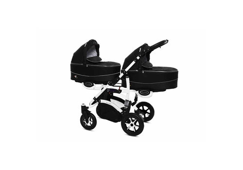 Tweeling kinderwagen Twinni Premium 7 - wit