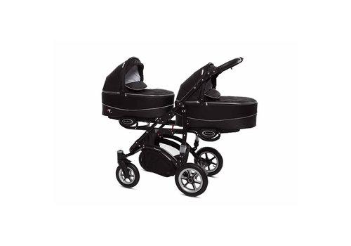 Tweeling kinderwagen Twinni Premium 7 - zwart