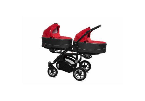 Tweeling kinderwagen Twinni Premium 8 - zwart