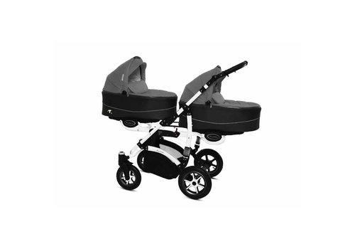 Tweeling kinderwagen Twinni Premium 9 - wit