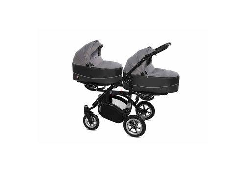 Tweeling kinderwagen Twinni Premium 9 - zwart