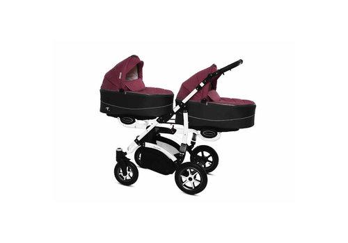 Tweeling kinderwagen Twinni Premium 10 - wit