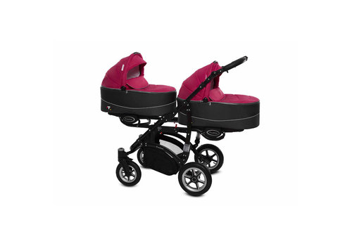 Tweeling kinderwagen Twinni Premium 10 - zwart
