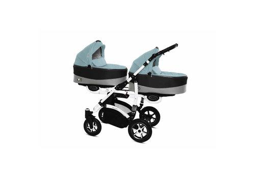 Tweeling kinderwagen Twinni Premium 11 - wit