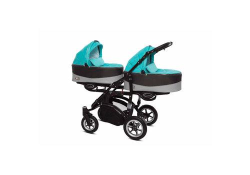 Tweeling kinderwagen Twinni Premium 11 - zwart