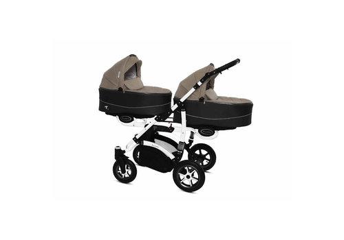 Tweeling kinderwagen Twinni Premium 12 - wit