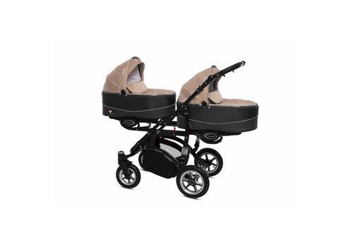 Tweeling kinderwagen Twinni Premium 12 - zwart