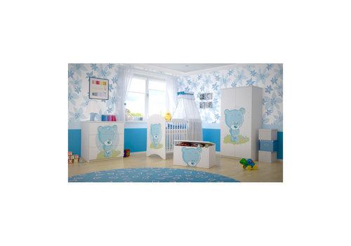 Babykamer Blauw Beertje