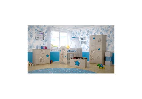 Babykamer Giraf Blauw