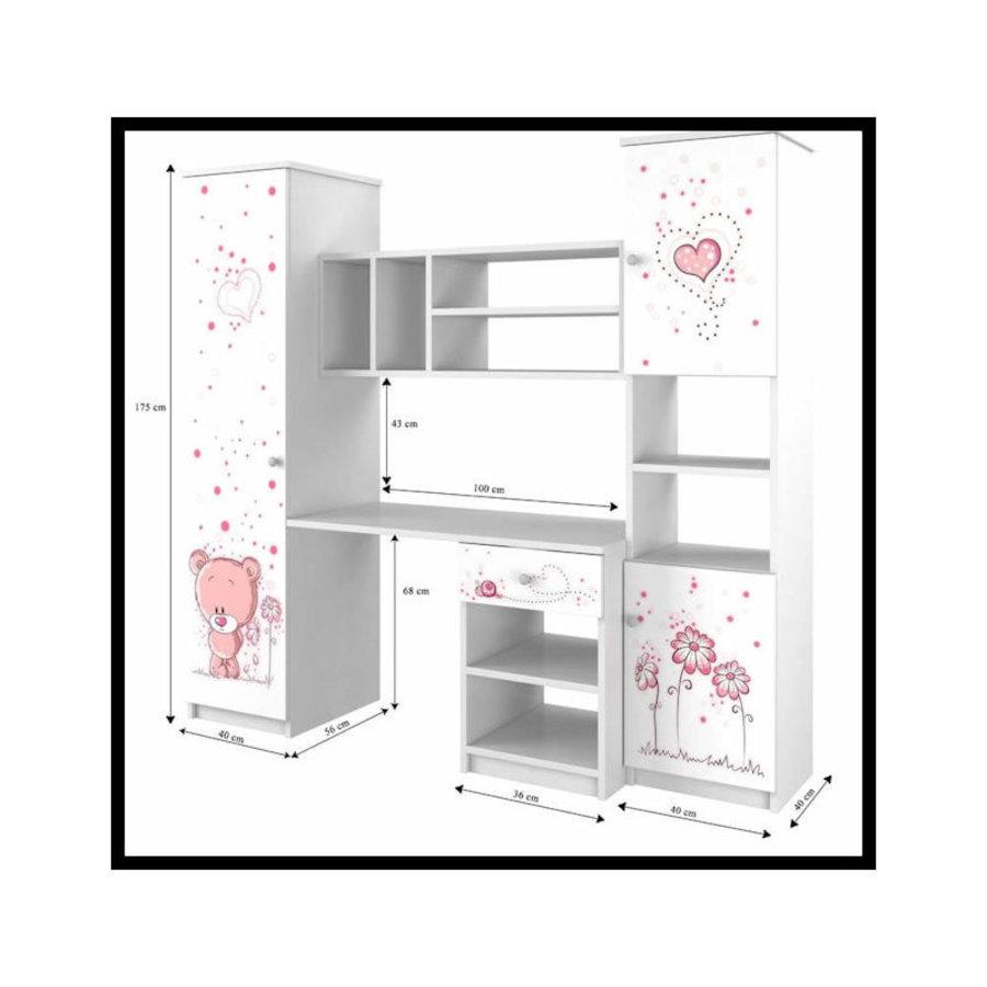 Wandmeubel Kitten - roze-3