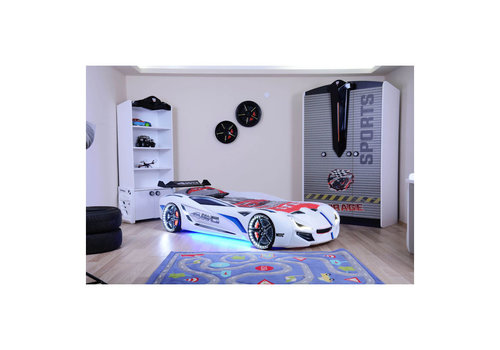 Autobed - Racebed Street racer GT1 - wit