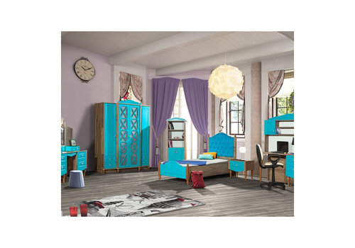Complete kinderkamer Country - 3-delig - turquois